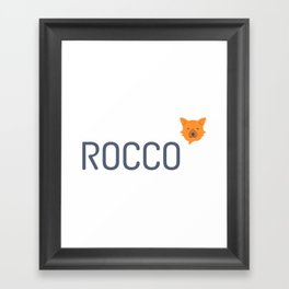 Rocco Framed Art Print