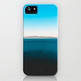 Darken blue sea with mountains iPhone Case