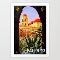 Palermo Sicily Vintage Travel Art Print