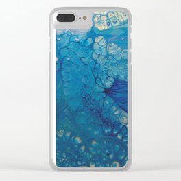 Dazzler - Blue Fluid Acrylic Abstract Clear iPhone Case