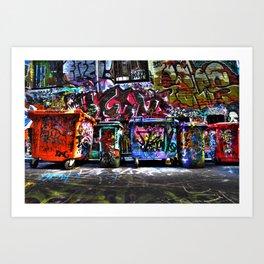 Hoiser Lane, Melbourne Art Print