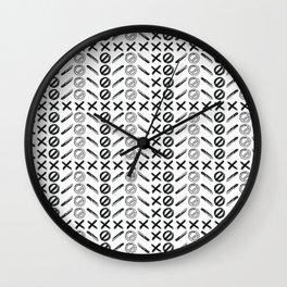 Dagger Danger Cross by Chrissy Curtin Wall Clock