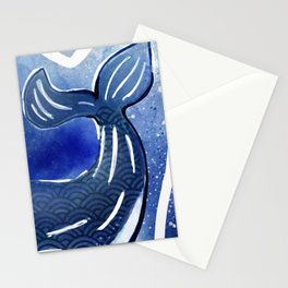Whale glowing Stationery Cards