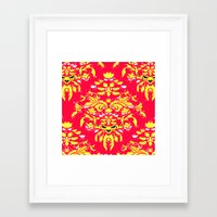 wallpaper Framed Art Prints featuring Wallpaper by lush tart