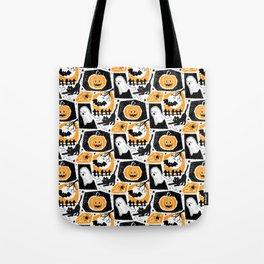 Beware of the Cat -Pattern Tote Bag