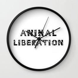 Animal Liberation - Vegan Print Wall Clock