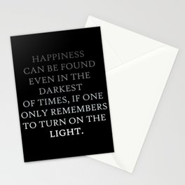 Happiness can be found Quote Stationery Cards
