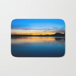 Sunset at Stumpy Lake in Virginia Beach Bath Mat