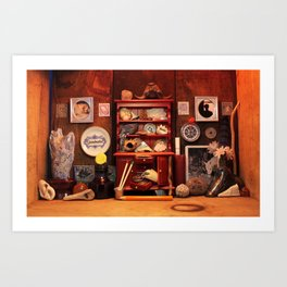 Curio Cabinet - Search and Find! Art Print