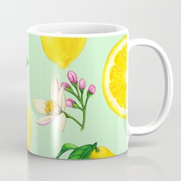 Lemon Summer Pattern Coffee Mug
