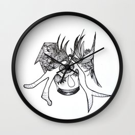seperation or meet in love Wall Clock