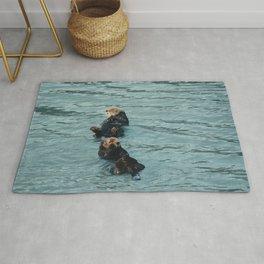 Coastal sea otters Rug