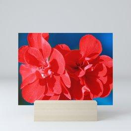 Red garden flowers Mini Art Print