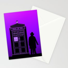 Tardis With The Fourth Doctor Stationery Cards