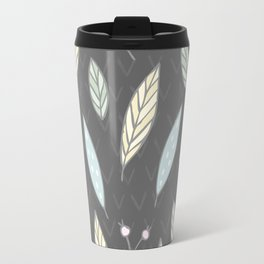 The one with the leaves - Gray Travel Mug