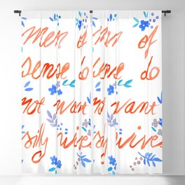Men of sense do not want silly wives - Orange & Blue Palette Blackout Curtain