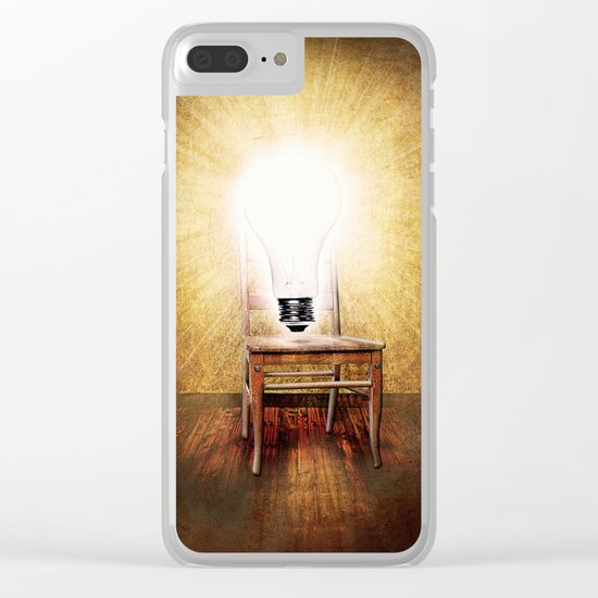 The Seat of Big Ideas Clear iPhone Case