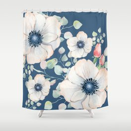Summer Flowers Blue #society6 #buyart Shower Curtain