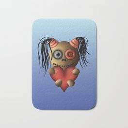 Heart Pigtails Bath Mat