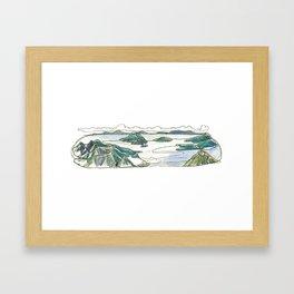 Brunswick Peak Framed Art Print