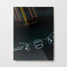 TRON LIGHT JET Metal Print
