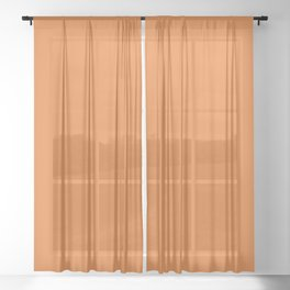 Russet Orange | Pantone Fashion Color | Fall : Winter 2018 | New York and London | Solid Color Sheer Curtain