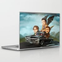 supernatural Laptop & iPad Skins featuring Supernatural by RAVEFIRELL