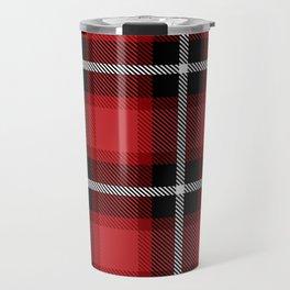 Christmas Red & Black Plaid Design For Decoration Travel Mug