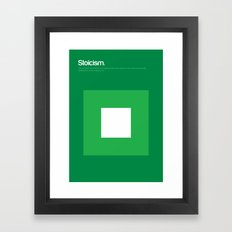 Stoicism Framed Art Print