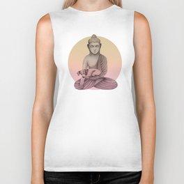 Buddha with dog5 Biker Tank