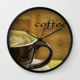 cappuccino coffee textured art Wall Clock