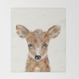 little deer fawn Throw Blanket