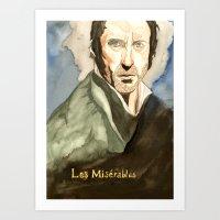 les mis Art Prints featuring Les Mis by Paxelart