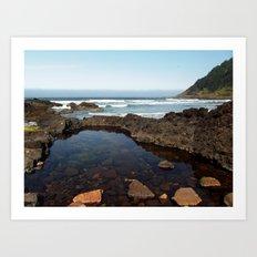 Cape Perpetua Tide Pool Art Print