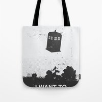 i want to believe Tote Bags featuring I Want To Believe by Nicolas Beaujouan