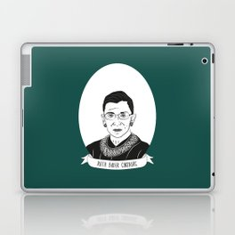 Ruth Bader Ginsburg Illustrated Portrait Laptop & iPad Skin