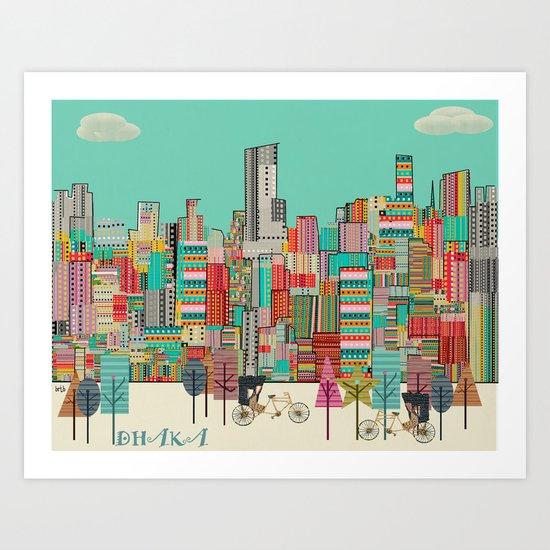 Dhaka Bangadesh skyline Art Print