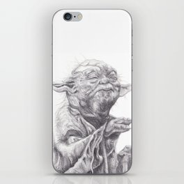 Yoda sketch iPhone Skin