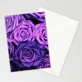 Purple Roses Stationery Cards