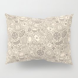Casino Pattern | Gambling Luck Money Poker Cards Pillow Sham