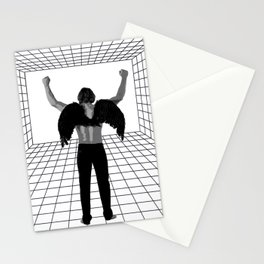 A winged man in a room Stationery Cards