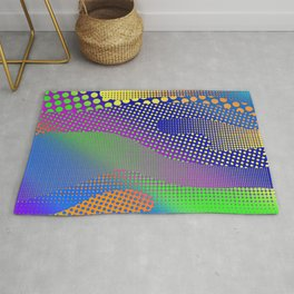 Halftone Sea Color Rug