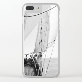 Away We Sail Clear iPhone Case