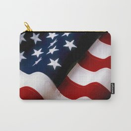 Waving American Flag Carry-All Pouch