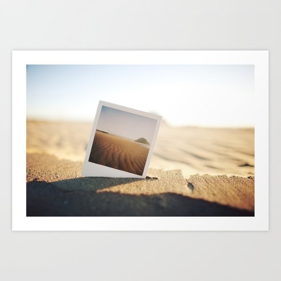 Morro Bay Polaroid Art Print