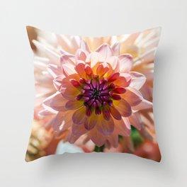 Dahlia / In The Garden / 6 Throw Pillow