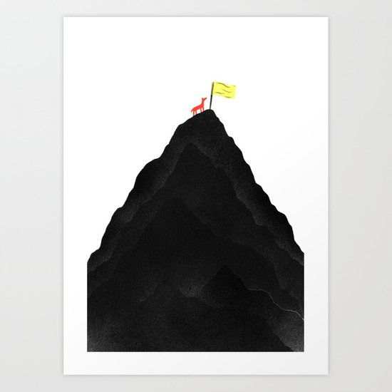Man & Nature - To The Top Art Print