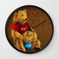 pooh Wall Clocks featuring Pooh by J ō v