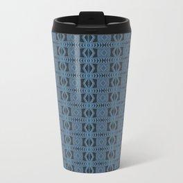 Blue Doodle Geometry  Travel Mug