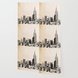 New York City Skyline Outline Wallpaper